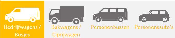 de verschillende soorten auto's die te huur zijn